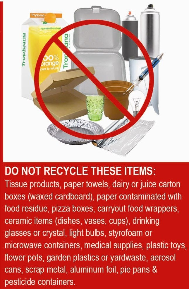 What not to Recycle