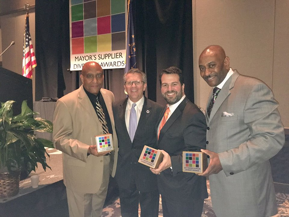 Mayor Winnecke presented Appreciation Awards to committee members Earl Milligan, Alfonso Vidal, and Talmadge Vick during the 2017 Mayor's Supplier Diversity Awards