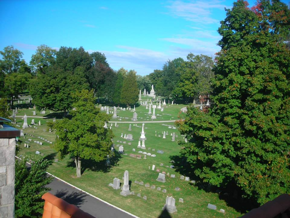 Oak Hill Cemetery looking NE from bell tower