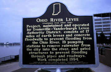 Ohio River Levee Historical Marker