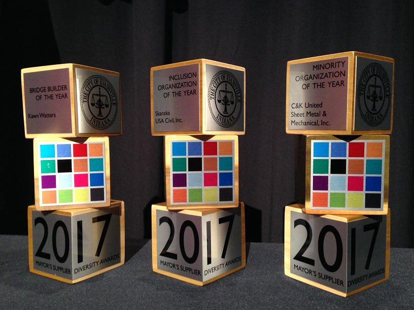 Awards presented during the 2017 Mayor's Supplier Diversity Awards