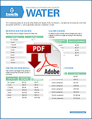 2014 Water Rates
