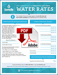 2017 Less Common Fees for Industrial Customers Water Rates