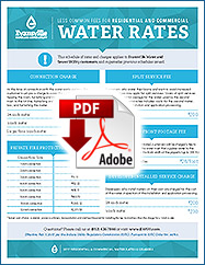 2017 Less Common Fees for Residential and Commercial Water Rates