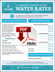 2018 Less Common Fees for Industrial Customers Water Rates