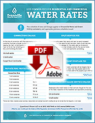 2018 Less Common Fees for Residential and Commercial Water Rates