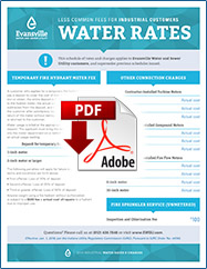 2019 Less Common Fees for Industrial Customers Water Rates