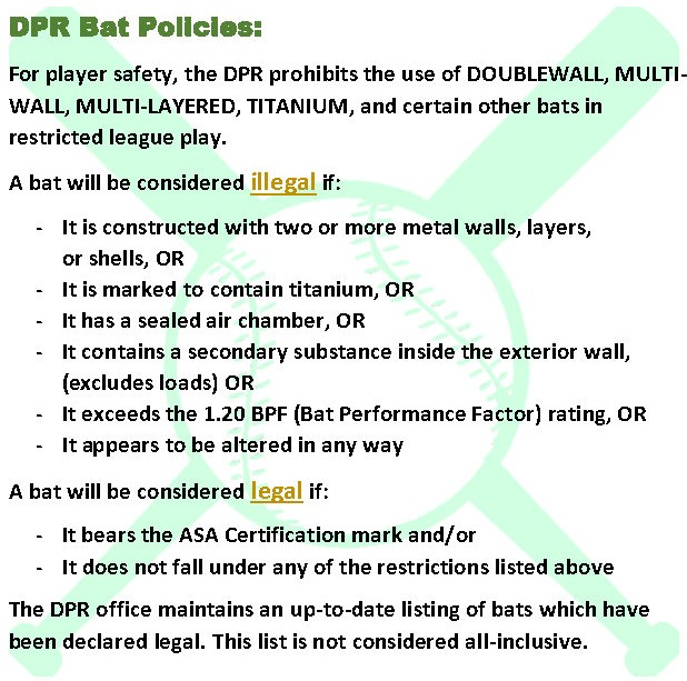 DPR Bat Policy