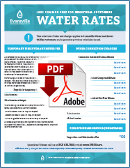 2021 Less Common Fees for Industrial Customers Water Rates